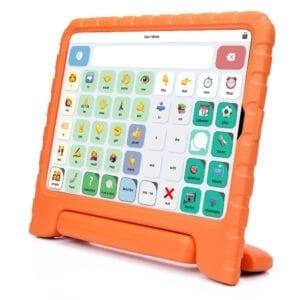 ElineSpreekt Kids-Case-voor-iPad-2-3-4-in-Oranje-Lichtgewicht-Schokabsorberende-Kind-Veilig-EVA-Foam-ingebouwde